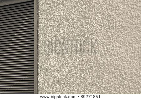 Concrete Wall And Blinds Of Beige Color