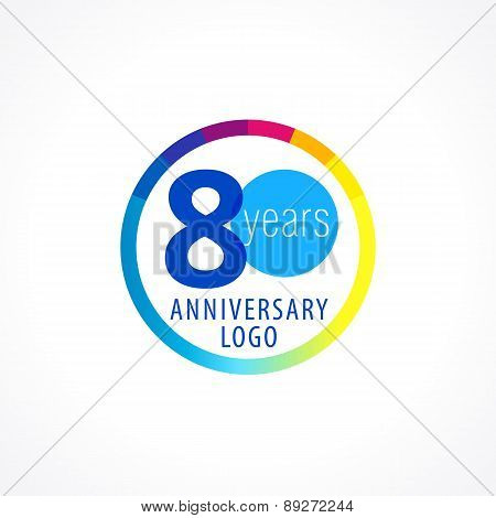 80 anniversary circle logo