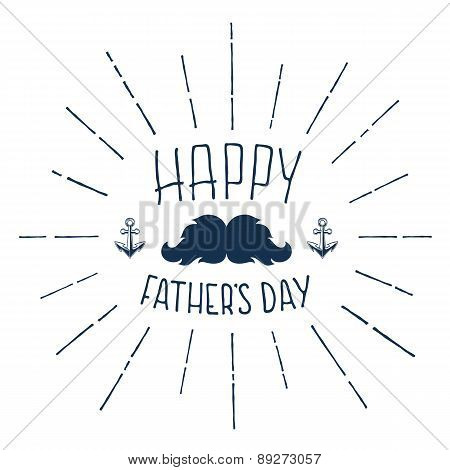 Happy Fathers Day. Handwritten background.
