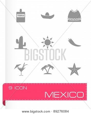 Vector mexico icon set