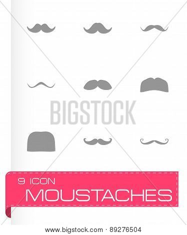 Vector moustaches icon set