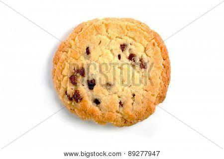 Cookies on white background- studio shot