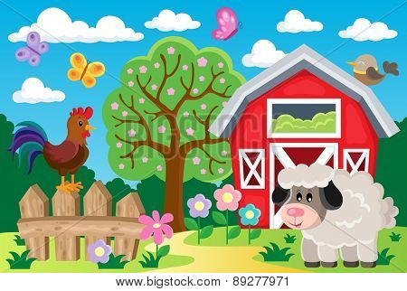 Farm topic image 8 - eps10 vector illustration.