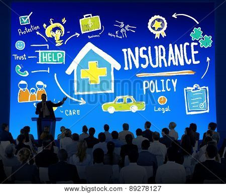 Diversity Business People Insurance Policy Seminar Conference Concept