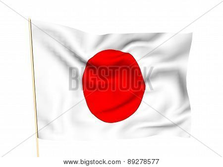 Image Of A Flag Of Japan