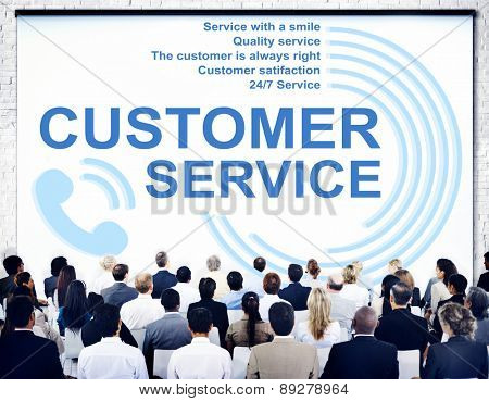 Customer Service Support Assistance Call Center Agent Concept