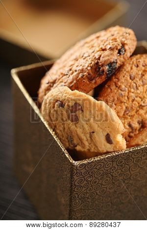 Cookies in box - close-up