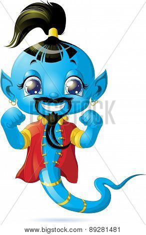 Illustration of cute Genie