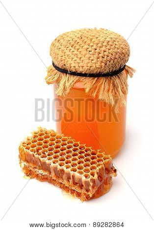 Honey And Honeycomb Closeup