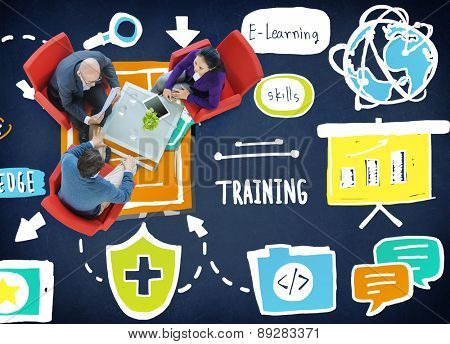 Knowledge Training E-Learning Skills Start Up Launch Concept