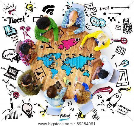 Discussion Brainstorm Teamwork Communication Concept