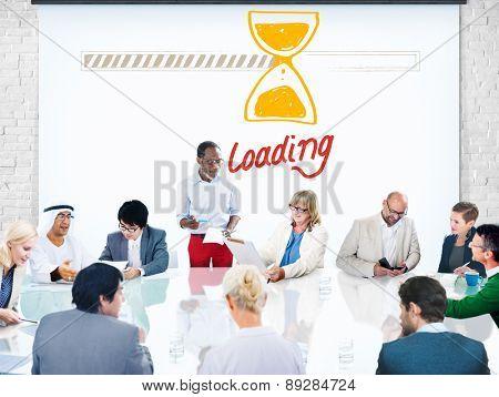Loading Data Information Transfer Digital Internet Concept