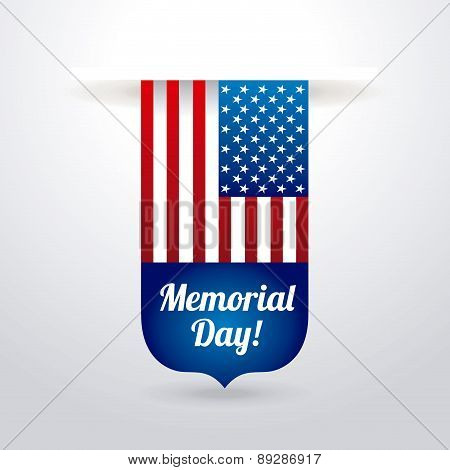 Memorial Day design over  background vector illustration