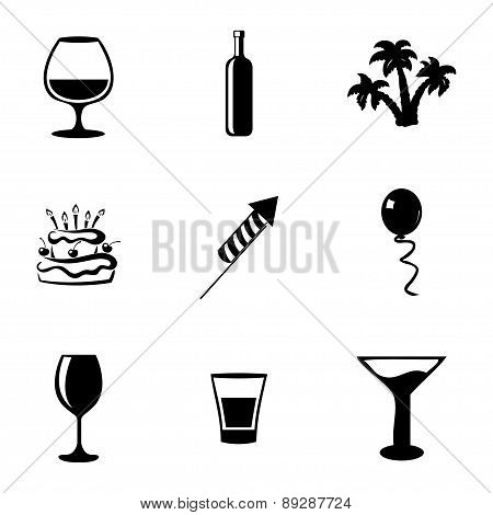 Vector party icons set