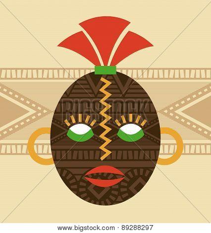 Africa design over beige background vector illustration
