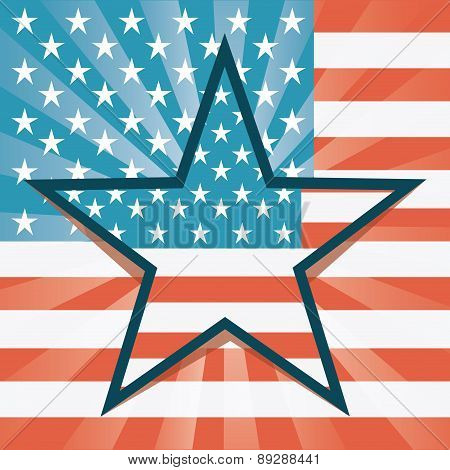 USA design over flag background vector illustration