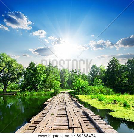 Bridge and silent river