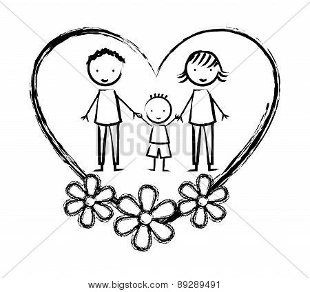 Family design over white background vector illustration