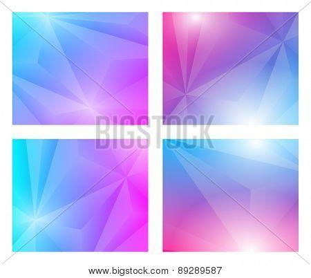 4 in 1 Poligon geometric background
