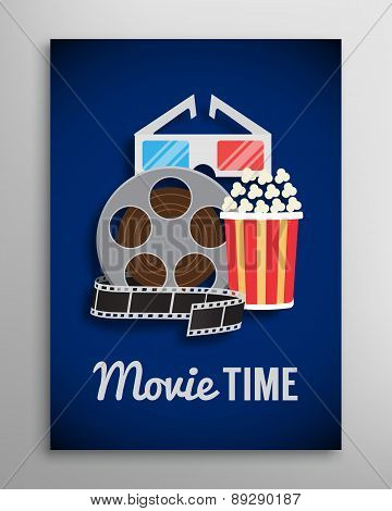 Cinema flyer, movie trailer advertisement