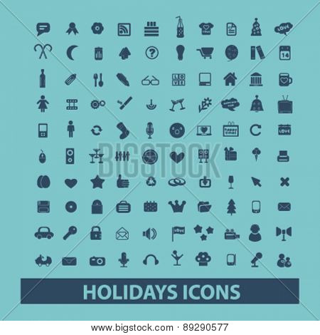 holidays, event, celebration isolated icons, signs, illustrations website, internet mobile design concept set, vector