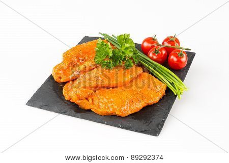 Turkey cutlet marinated