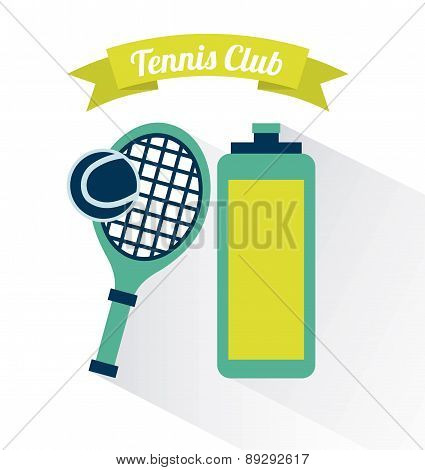 Tennis club design over white backgroundvector illustration