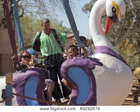 A Swan Ride At The Arizona Renaissance Festival