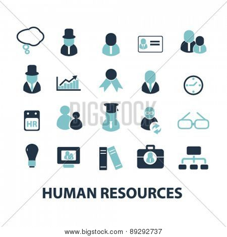 human resources, avatar, organization, user isolated icons, signs, illustrations website, internet mobile design concept set, vector