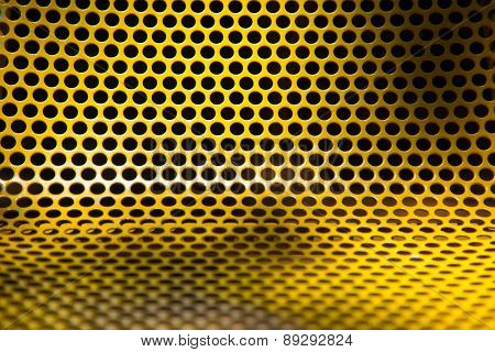 yellow steel chair