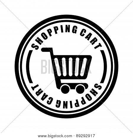 Shopping design over white background vector illustration-