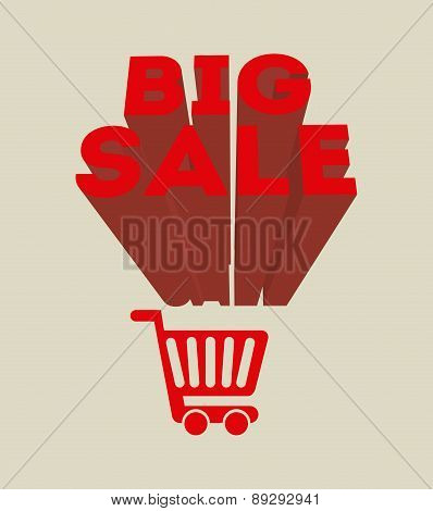 Shopping design over beige background vector illustration-