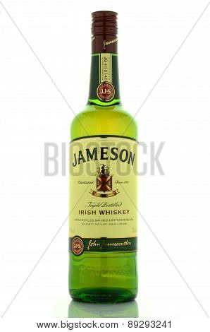 Jameson whiskey isolated on white background