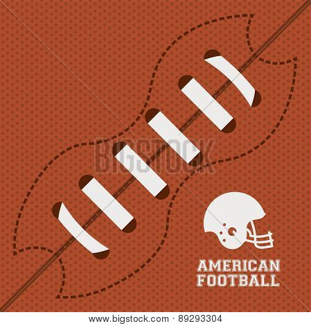 American football design over orange dotted background vector il