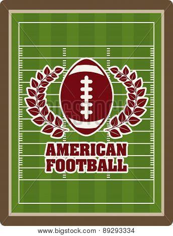 American football design over pitch background vector illustrati
