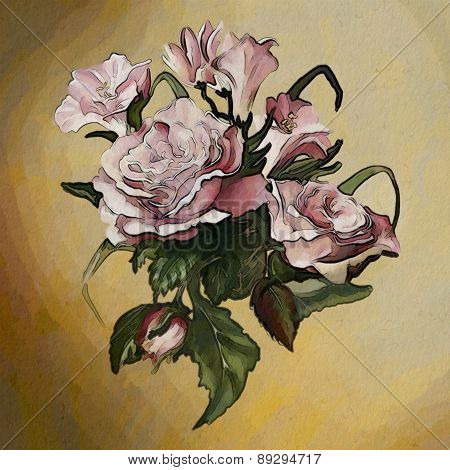 Rose. Watercolor