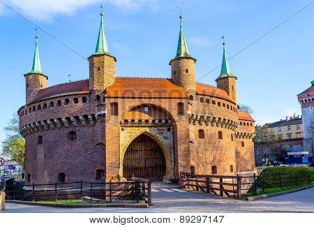 Barbakan Krakowski, Barbican, Cracow, Poland