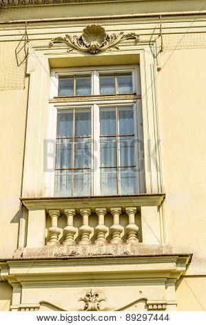 Old Window  In Krakow, Poland