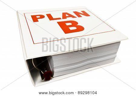PLAN B 3 Ring Binder On White
