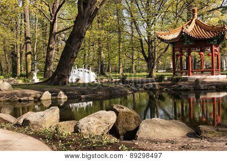 Warsaw.lazienki(bath)royal Park.chinese Garden