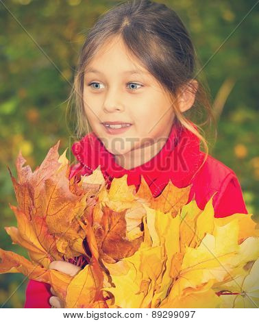 Lovely Kid With A Bouquet