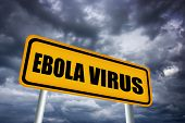 stock photo of hemorrhage  - High resolution image of ebola virus warning sign - JPG