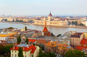 stock photo of hungarian  - Sights and details of historical part of the Hungarian capital - JPG