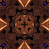 stock photo of celtic  - Abstract metallic bronze viking or celtic like pattern made seamless - JPG
