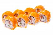 picture of masago  - Rolls with snow crab - JPG