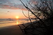 pic of breathtaking  - Breathtaking view of amazing sunset in a beautiful beach of Manabi - JPG