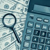 picture of financial audit  - Business accounting or financial audit  - JPG