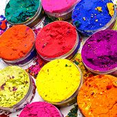 stock photo of holi  - Indian Holi festival colours pattern or texture  - JPG