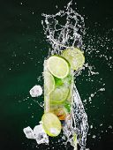 picture of freeze  - fresh mojito drink with liquid splash and drift - JPG