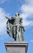 stock photo of three kings  - Bronze statue of the king Gustaf 3 in Stockholm Sweden - JPG